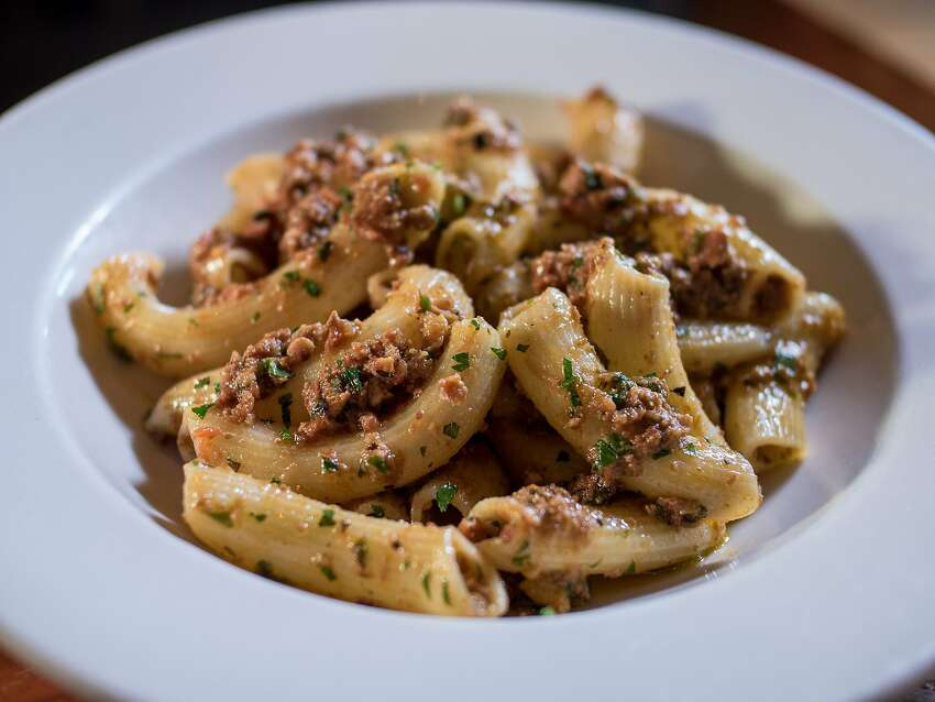 The Rigatoni with Pork Ragu at Porcellino in San Francisco, Calif. is seen on October 10th, 2014.