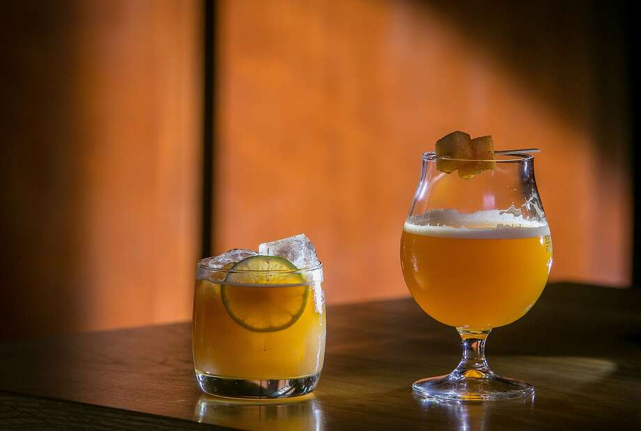 """The """"Faust"""", (left), and the """"City Loop"""" beer cocktails at Schroeders in San Francisco, Calif. are seen on Friday, October 10th, 2014. Photo: John Storey, Special To The Chronicle"""