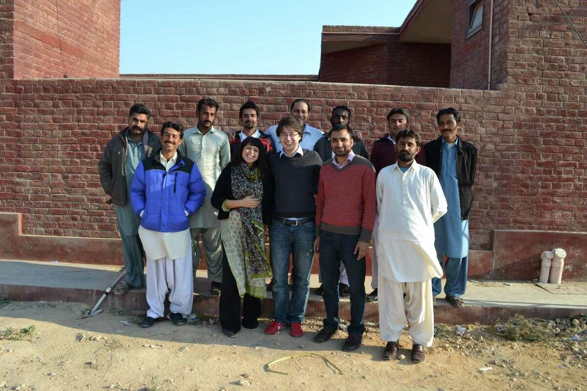 Shazia Khan and EcoEnergy Finance Team in Thatta, SIndh province, Pakistan. (Photo provided by Shazia Khan)