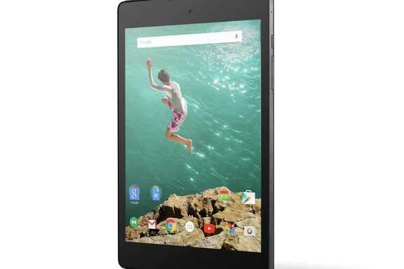 The Nexus 9 tablet, with a nearly 9-inch screen, is one of the products that Google unveiled Wednesday, a day before a similar event planned by Apple.