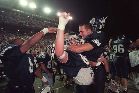 On Oct. 16, 1994, the Rice team erupted into pure joy after beating Texas for the first time since 1965.