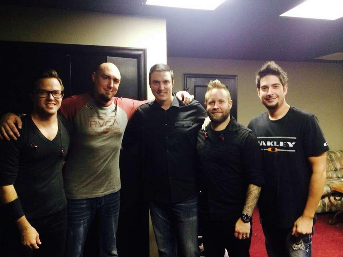 Members of Breaking Benjamin, from left, guitarist Keith Wallen, bassist Aaron Bruch, singer and guitarist Benjamin Burnley, guitarist Jasen Rauch and drummer Shaun Foist.