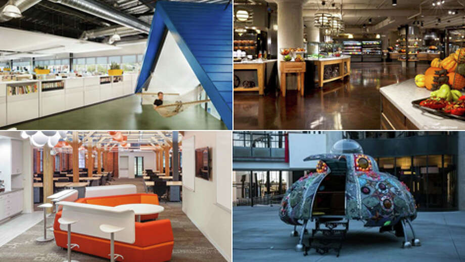 In an attempt to strike up innovation and provide a stress-free environment, some top companies are going the non-traditional route with their onsite facilities. From offices that look more like happy hour lounges to conference rooms that are out of this world. Take a look at the top 10 coolest office spaces of the year. Photo: Glassdoor.com