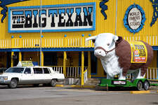 The Big Texan Steak Ranch in Amarillo, Texas along Route 66 – home of the 72 ounce steak challenge.