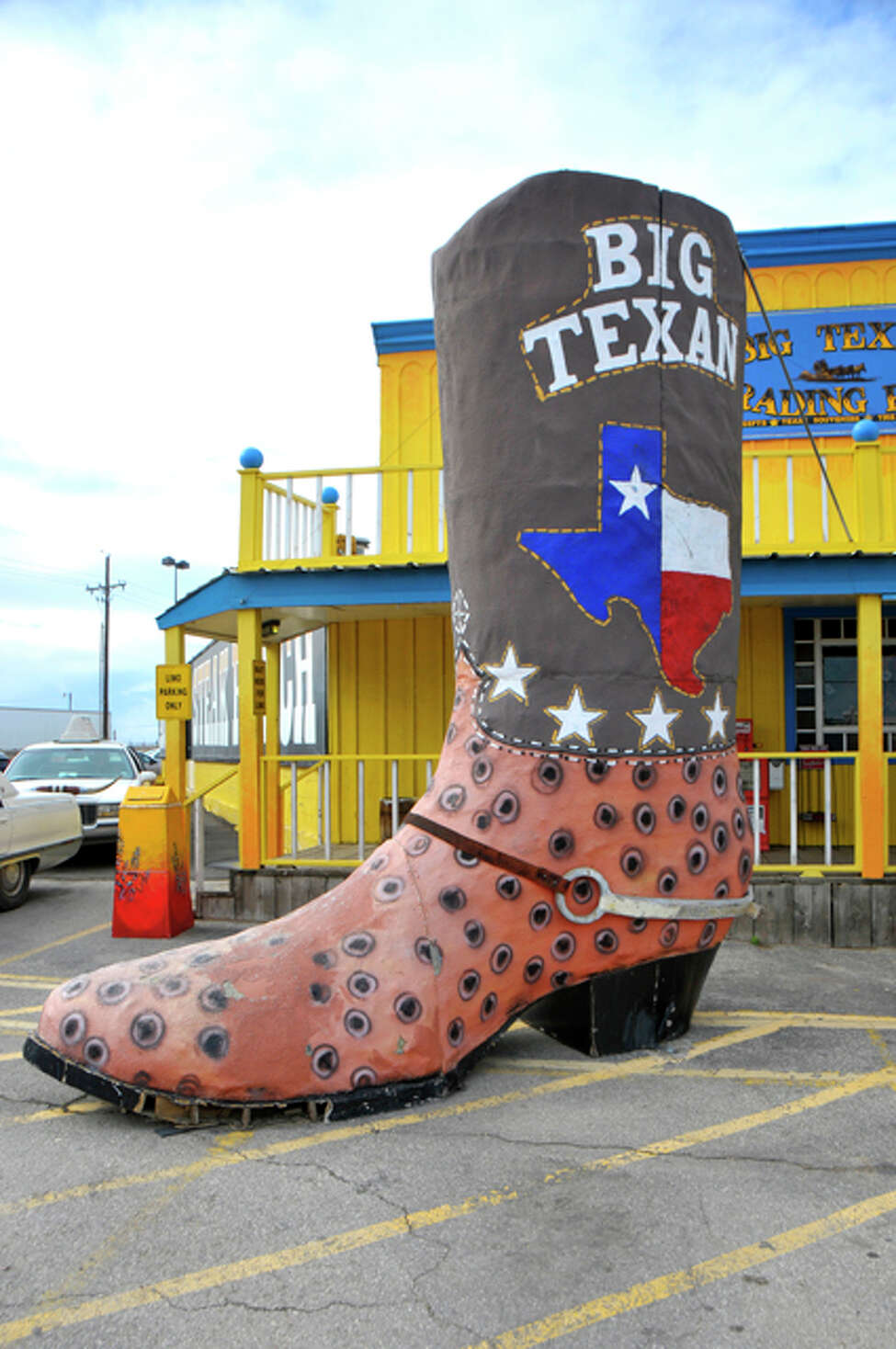 The Big Texan Steak Ranch Amarillo,7701 Interstate 40 Access Road Downing a 72-ounce steak, priced at $72, will make you a winner. The reward? The pricey piece of meat will be free to anyone who can finish it in one seating.