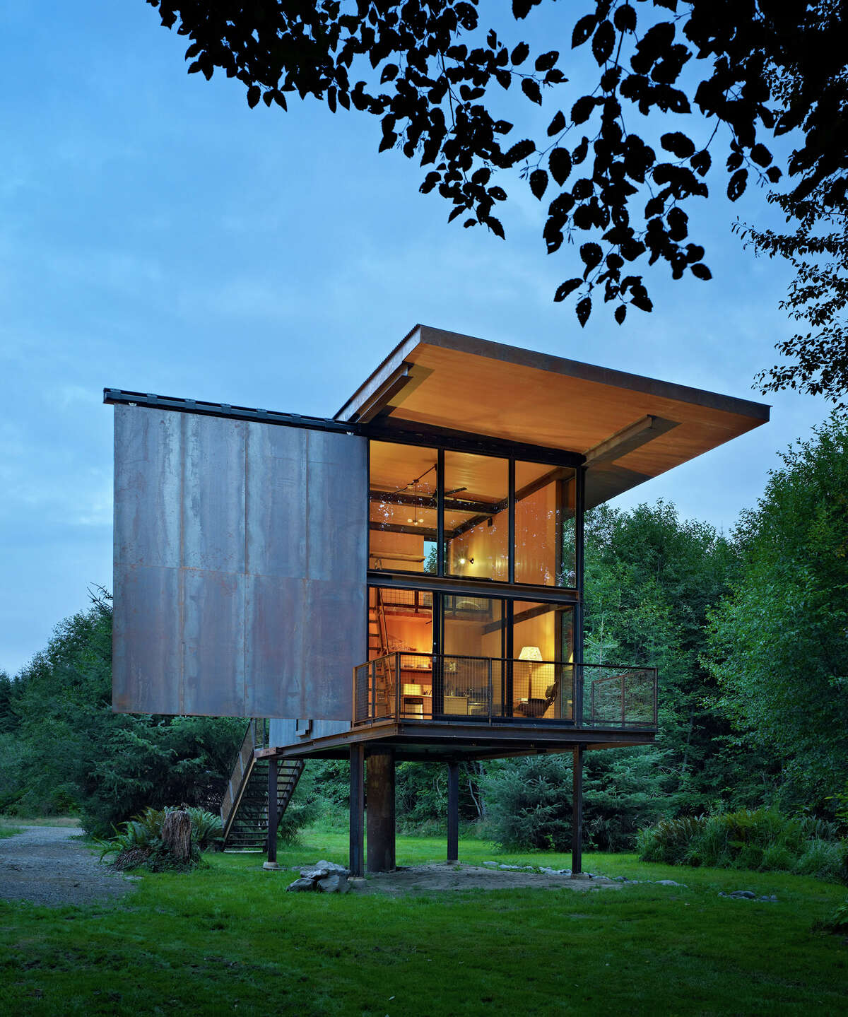 Tom Kundig, of Seattle's Olson Kundig Architects, won for Sol Duc Cabin, on the Olympic Peninsula.Jury comments: