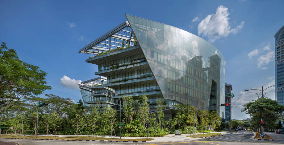 """We'll start the Honor Award winners with Aedas' Hong Kong office, which won for Sandcrawler, in Singapore. This is Lucasfilm's Singapore facility and, yes, was designed to resemble the Sandcrawler transport from """"Star Wars.""""Jury comments:  """"A powerful parti with lots of architectural pyrotechnics. The jury liked the confidence of the project; single, bold, exuberant but executed with control. The project elevates to a level of excellence."""" Photo: Paul Warchol _, Courtesy AIA Northwest And Pacific Region"""