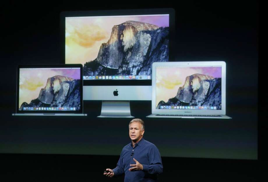 Apple Senior Vice President of Worldwide Marketing Phil Schiller announces the new iMac with 5k retina display during a special event on October 16, 2014 in Cupertino, California.  Apple unveiled the new iPad Air 2 tablet, iPad mini 3 and a Retina display iMac. Photo: Justin Sullivan, Getty Images