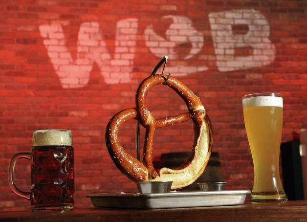 The German pretzel at World of Beer at Crossgates Mall on Friday, Oct. 10, 2014 in Guilderland, N.Y. (Lori Van Buren / Times Union) Photo: Lori Van Buren / 10028965A