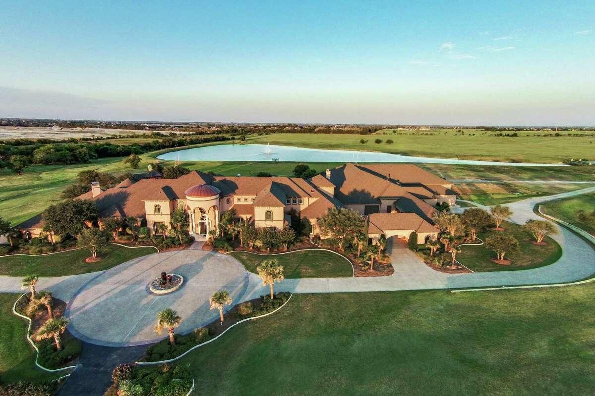 Former Dallas Cowboys defensive back Deion Sanders' mansion in Prosper, Texas.
