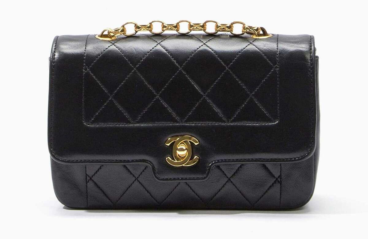 Chanel black lamb shoulder bag, $2,500.
