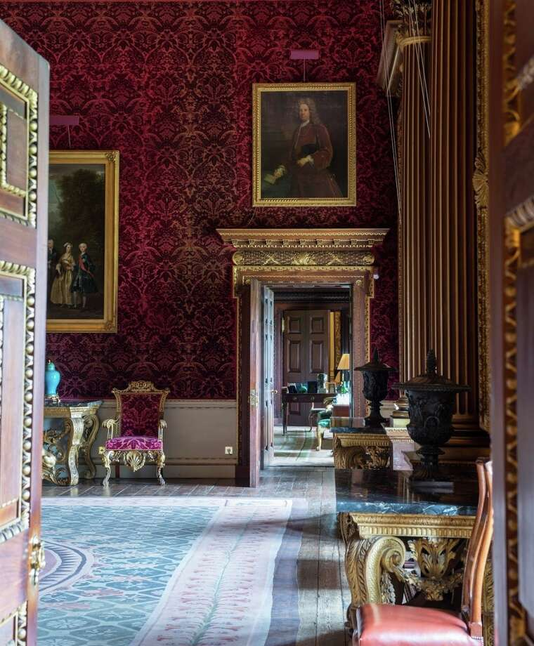 This rich view of the Saloon at Houghton Hall showcases its expensive restoration after periods of neglect and vacancy. Photo: James Merrell / Fine Arts Museums Of S.f. / ONLINE_YES