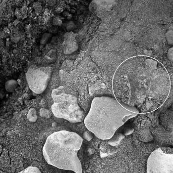 An iron cross on Mars?What about now? Can you see the cross surrounded by a circle on this image taken by a NASA rover camera on Mars?Check out these other weird oddities supposedly seen on the surface of Mars ... Photo: NASA