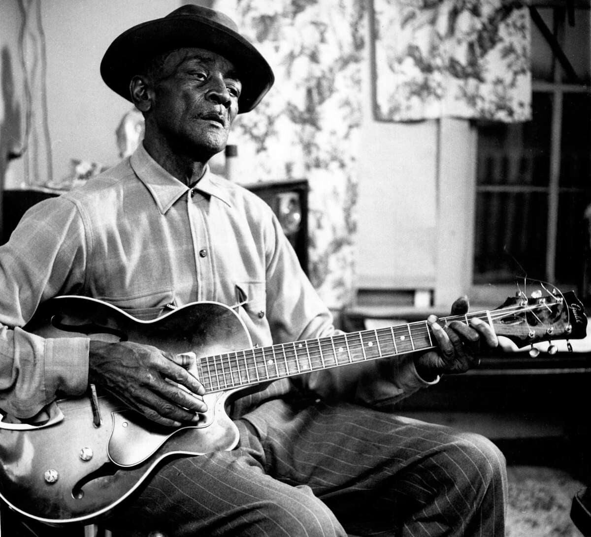Mance Lipscomb in 1962. Lipscomb primarily played dances in Navasota until Arhoolie Records began recording him.