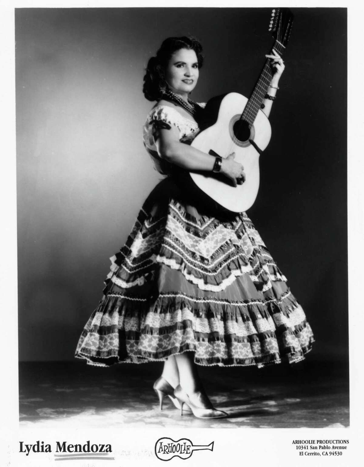 Undated photo of Lydia Mendoza, a Houston native known as