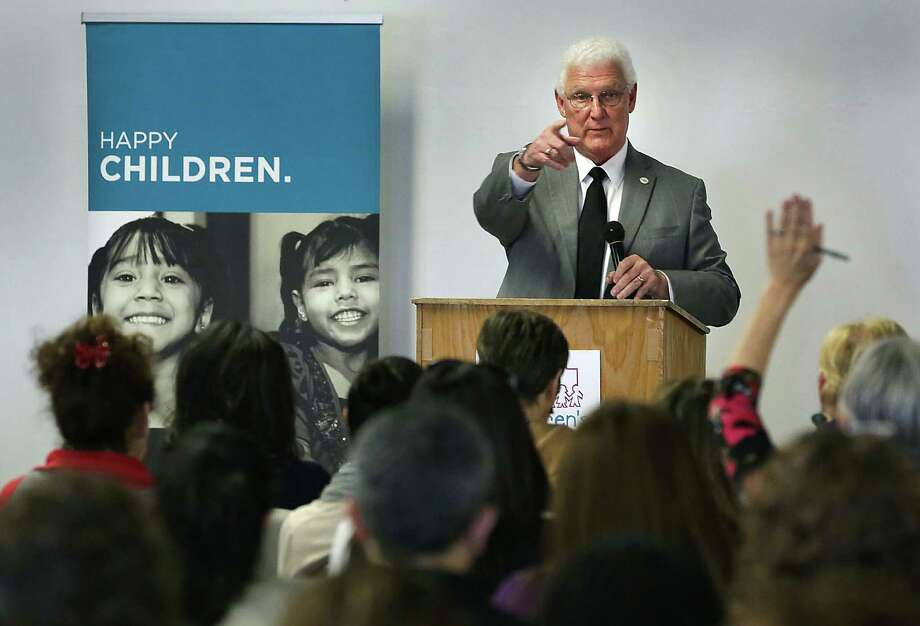 Texas should not appeal a ruling that spells out the inadequacies of the state's foster care system. It should simply apply fixes. Here, retired Judge John Specia, Commissioner of Texas Department of Family and Protective Services, takes questions after speaking to CPS workers, at an office of the Children's Shelter, discussing the 2013 Child Protective Services statistics, and foster care redesign in 2014. Photo: BOB OWEN /San Antonio Express-News / © 2012 San Antonio Express-News