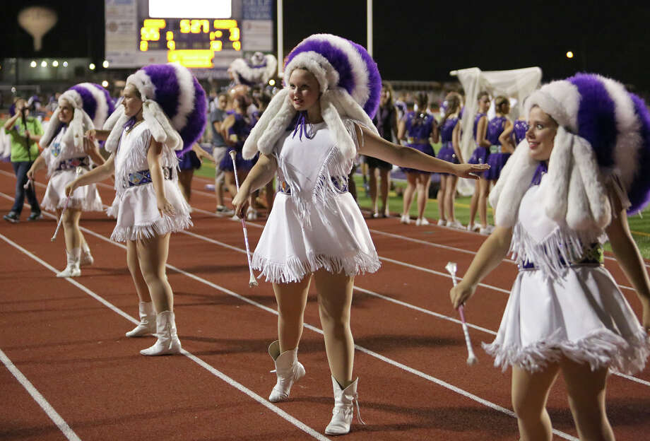 INDIANETTES:PN-G's Indianettes don purple and white Indian headdresses that they decorate each year. The school's drill team performs during halftime during football games and at other events throughout the school year. Photo: Provided by Matt Billiot Photo: Matt Billiot / Copyright Matt Billiot. Permission granted to Beaumont Enterprise.