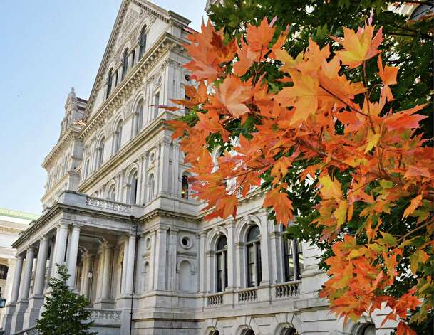 Autumn colors begin to show at the west Capitol lawn Wednesday Sept. 24, 2014, in Albany, NY.  (John Carl D'Annibale / Times Union) Photo: John Carl D'Annibale