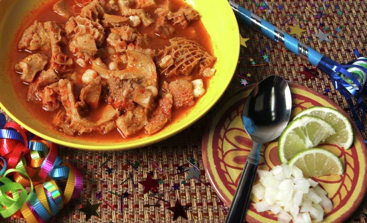 Menudo: Let's face it; you're going to throw up anyway. You might as well go out kicking and get some pig foot and stomach lining chili pepper soup into the mix.