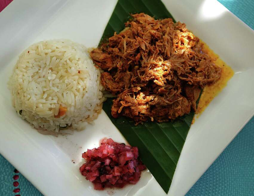 Cochinita pibil had just the right amount of citrusy brightness that balanced deftly with the earthiness of achiote. An accompanying habanero salsa, known as xnipec in the Mayan language, adds heat, crunch and a touch of tang.