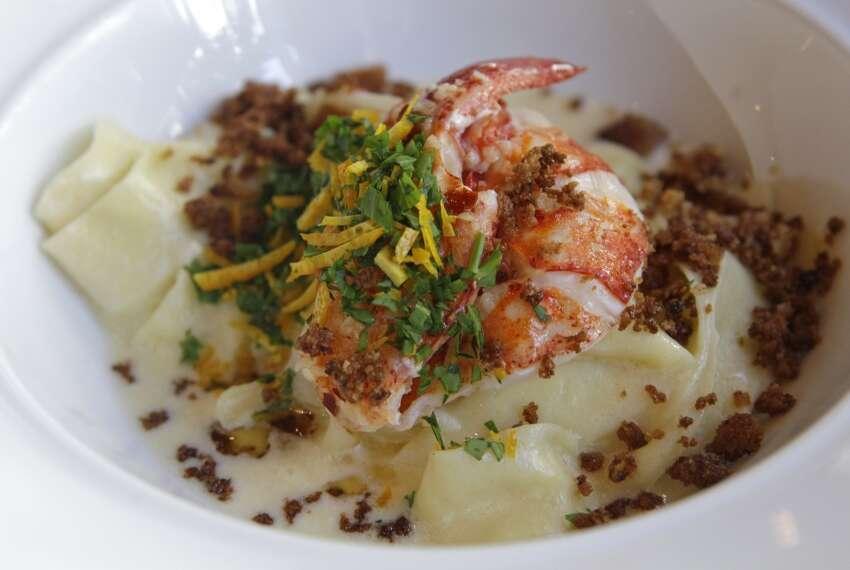 Radio Milano and Milano Bar 800 Sorella Ct. Tagliatelle with uni cream, lobster and pane frito crumbles