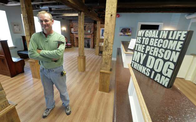 The former Old Daley Inn restaurant has taken on a new look as the Collar City Veterinary Hospital due in large part to master craftsman Tim Ballard Tuesday afternoon Oct. 14, 2014 in Troy, N.Y.  (Skip Dickstein/Times Union) Photo: SKIP DICKSTEIN / 10029029A