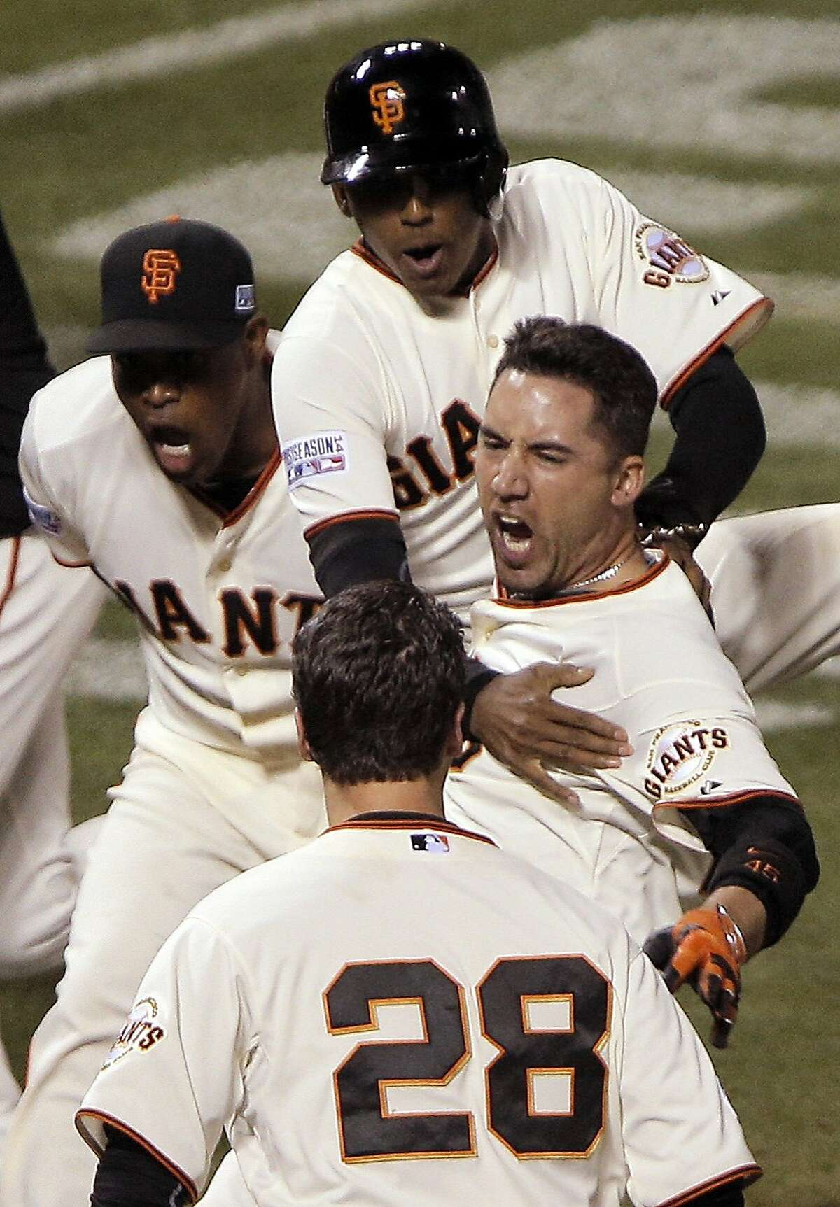 The SF Giants' Travis Ishikawa etched himself in Bay Area sports lore with his walkoff home run that clinched the Giants' spot in the World Series. But what were some of the other biggest sports moments in Bay Area history? We've collected a few favorites here, but let us know your favorites in the comments below.