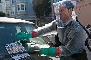 'Contagion.' The Jude Law parts were filmed in S.F., including a brief scene in the Chronicle building.