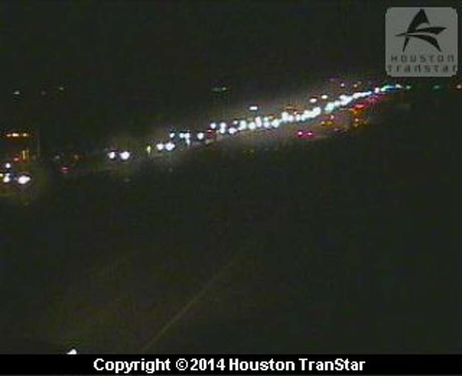 A truck fire blocked all main lanes of inbound U.S. 290 at Bauer about 6 a.m. Friday. Photo: Houston TranStar