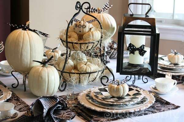 Not-So-Eerie Elegance  Choose a collection of cream-colored pumpkins and top them with black bows if your Halloween style falls on the sweeter side of the holiday's cute-to-creepy spectrum.     See more at Stone Gable »        Kitchen Gadgets That Improve Your Health   9 Lies You Tell Yourself About Cleaning Your House   11 Sneaky Storage Tricks For A Tiny Kitchen   Add These Superfoods To Your Grocery List   9 Charming Items Every Book Lover Needs   17 Ways You're Sleeping Wrong