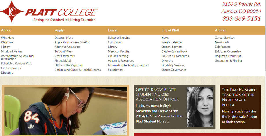 Platt College-Colo. Top 5 Worst Colleges, The Basics: Tuition cost, student debt, graduation rate, loan default rate.Platt College was included in The Washington Monthly magazine's list of worst U.S. colleges, September/October, 2014. Photo: .