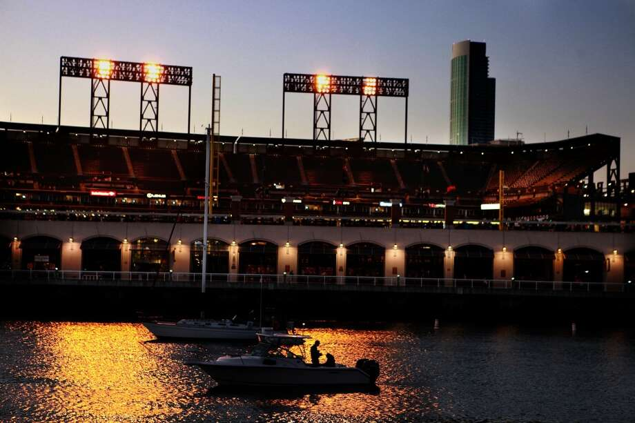A view of AT&T Park from across McCovey Cove. After last nights game, a fight broke out near Third and Channel streets that left a victim with a broken nose. Photo: Liz Hafalia, The Chronicle