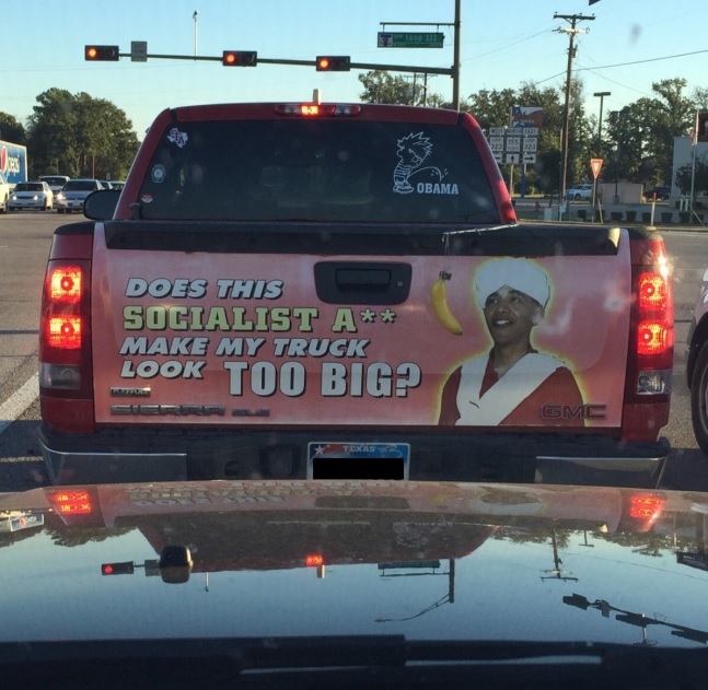 Texan S Truck Has Possibly The Most Racist Decal Ever
