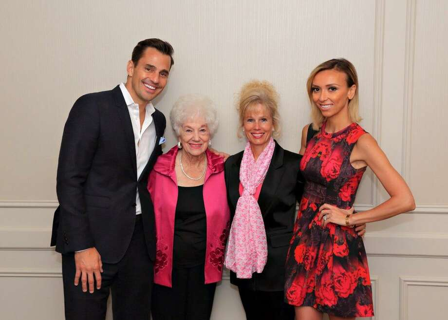 Bill and Giuliana Rancic visit with Maxine Myers and Debbie Fontenot. Photo: Photos Courtesy Of TK Images