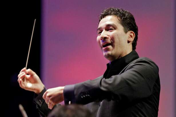 The Houston Symphony with its new music director Andres Orozco-Estrada is shown during performance at Miller Outdoor Theatre, 6000 Hermann Park Dr., Friday, Sept. 12, 2014, in Houston.