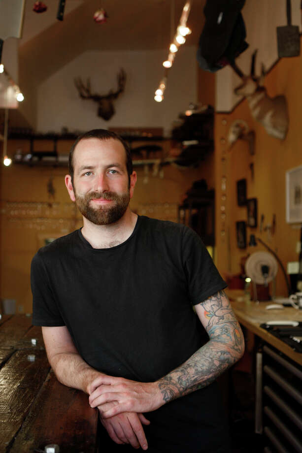 Galen Garretson worked at Quince before opening his boutique knife shop, Town Cutler on Nob Hill. Photo: Liz Hafalia / The Chronicle / ONLINE_YES