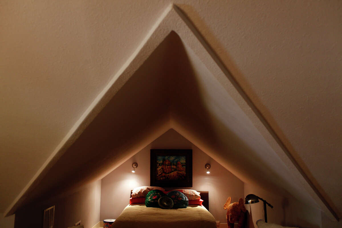 Converted attic spaces offer interesting angles.