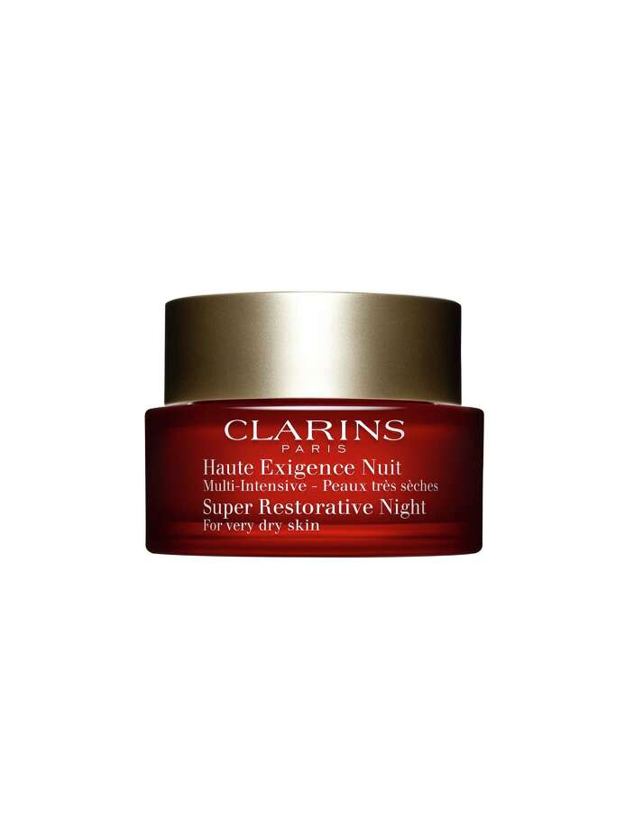 Clarins Super Restorative Day & Night Creams are two separate face creams (one for day, one for night) that target visible signs of aging. Photo: Clarins / Clarins