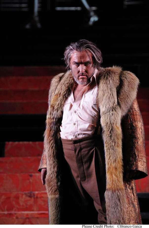 "Tenor Simon O'Neill portrays the title character of Giuseppe Verdi's ""Otello"" in an Australian production. Photo: Branco Gaica"