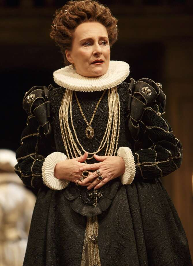 """Canadian actor Seana McKenna playing Queen Constance in the Stratford Shakespeare Festival production of """"King John"""" at the Tom Patterson Theatre, in Stratford, Ontario. Photo by David Hou. Photo: David Hou / Strratford Shakespeare Festival / ONLINE_YES"""