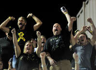 Vidor High School football fans cheer on the Pirates during a recent game. Enterprise file photo