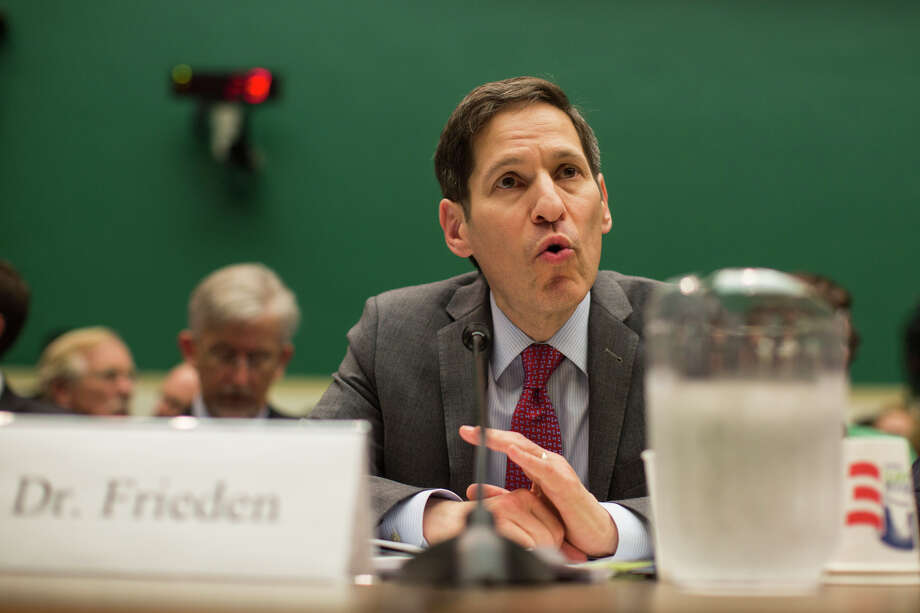 Dr. Tom Frieden, director of the Centers for Disease Control and Prevention center, speaks during a hearing of the House Energy and Commerce Committee examining the U.S. public health response to the Ebola outbreak, in Washington, Oct. 16, 2014. On Thursday the head of the Texas hospital system that treated a Liberian Ebola patient apologized for what he said were mistakes made by the hospital in Dallas in the original diagnosis of Ebola and in providing inaccurate information. (Jabin Botsford/The New York Times) ORG XMIT: XNYT41 Photo: JABIN BOTSFORD / NYTNS