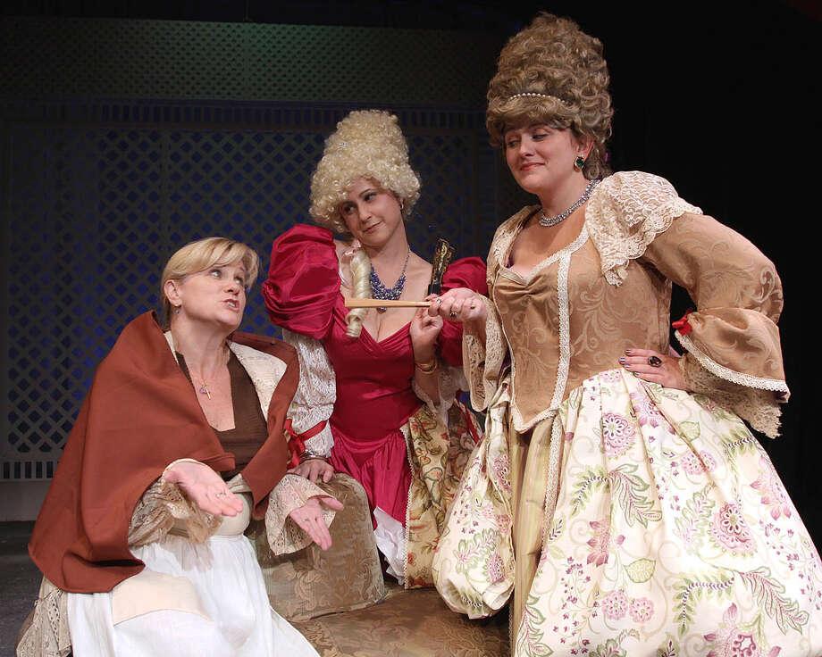 "From left, Cristine M. Loffredo, Jennifer Van Iderstyne, Stephanie G. Insogna in ""The Liar."""