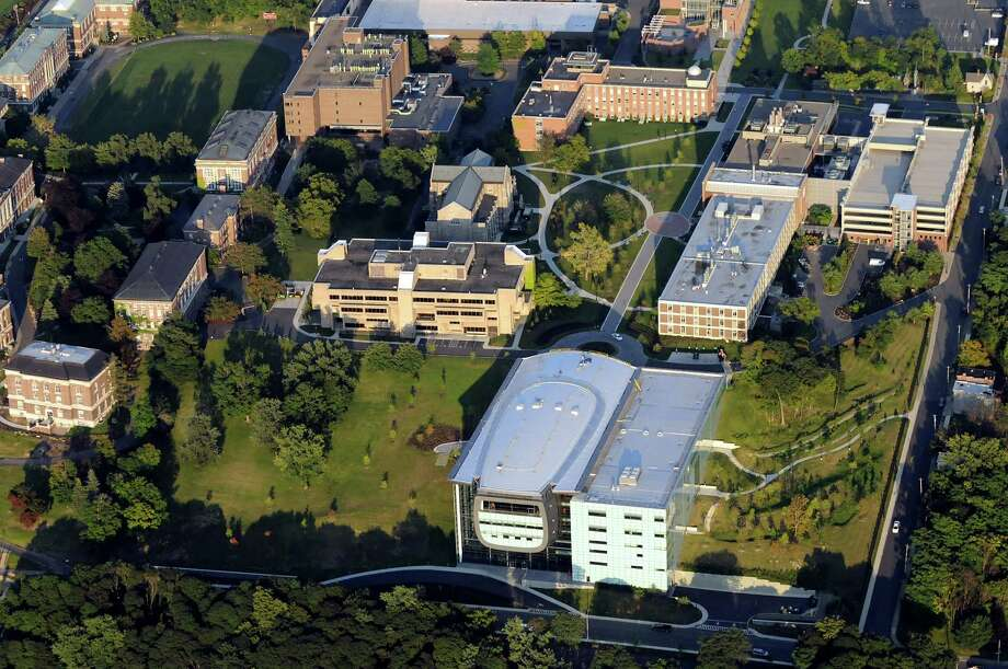 Aerial view of RPI campus, including EMPAC at bottom right, on Friday, Sept. 4, 2009, Rensselaer Polytechnic Institute in Troy, N.Y. (Cindy Schultz / Times Union) Photo: CINDY SCHULTZ