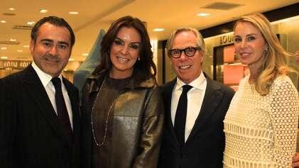 Rafael Chavez and wife Carmina Zamarano with Tommy Hilfiger and wife Dee Ocleppo Hilfiger