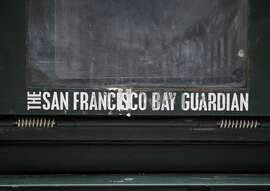 An empty San Francisco Bay Guardian news rack stands as mute testimony to the silencing of the progressives' bullhorn.