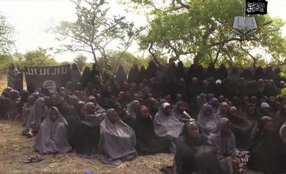 Still being negotiated by the Nigerian government and the extremists is the fate of more than 200 missing schoolgirls, who were abducted six months ago. Photo: Associated Press / File Photo / Militant Video
