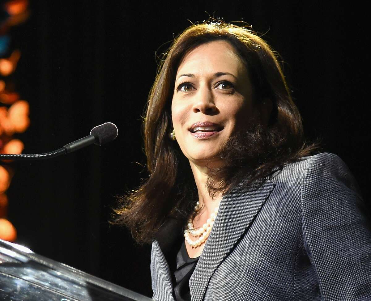 LOS ANGELES, CA - OCTOBER 10: California Attorney General Kamala Harris speaks onstage at the 2014 Variety Power of Women presented by Lifetime at Beverly Wilshire Four Seasons on October 10, 2014 in Los Angeles, California. (Photo by Jason Merritt/Getty Images for Variety)