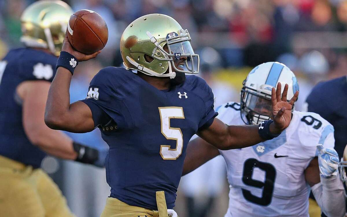 Notre Dame QB Everett Golson's only setback as a starter was in the 2013 BCS national championship game vs. Alabama.