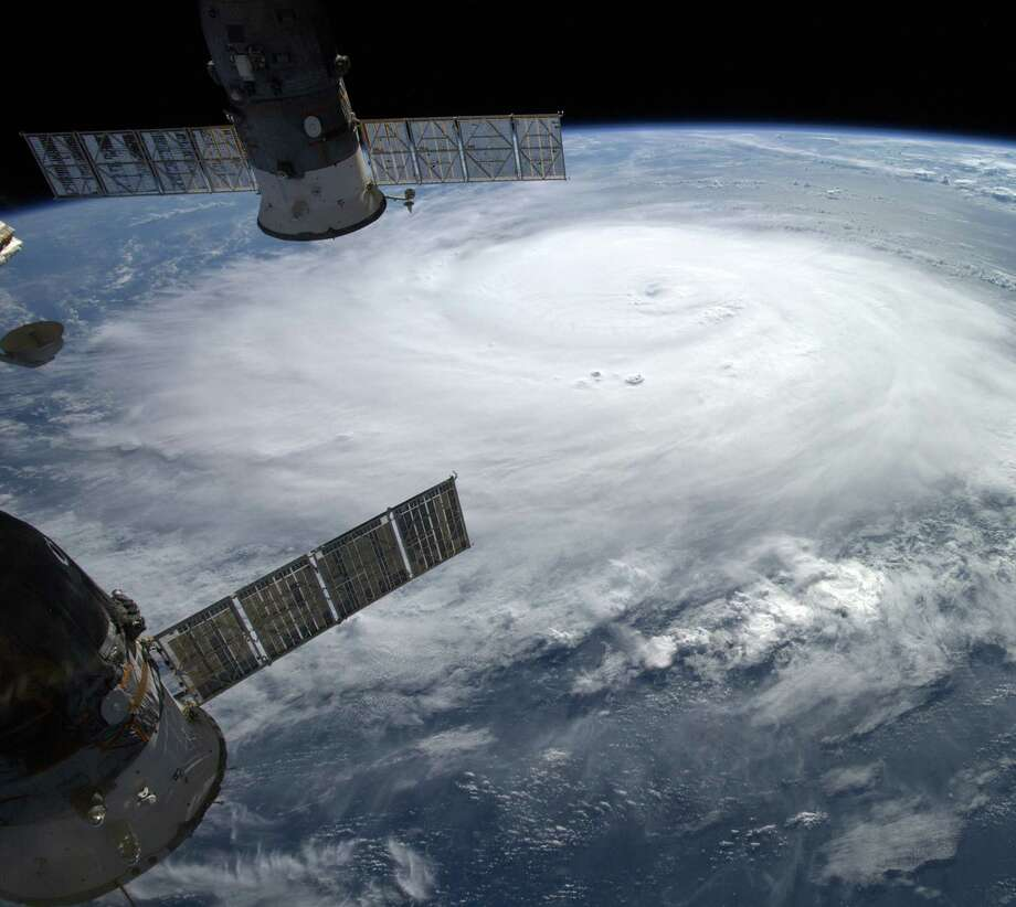 An image of Gonzalo taken from the International Space Station shows the hurricane's strength. Photo: Alexander Gerst / AFP / Getty Images / AFP